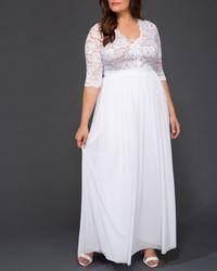 Kiyonna Everlasting Love Dress - White