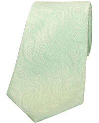 David Van Hagen Classic Paisley Silk Tie - Green
