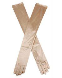 Dents Long Satin Shoulder Length Evening Gloves - Multicolour