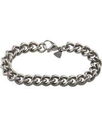 Ti2 Titanium Chunky Curb Bracelet - Metallic