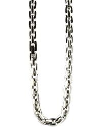 Ti2 Titanium Polished Square Chain - Metallic