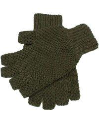 Dents Lanber Tuckstitch Half Finger Shooting Gloves - Green