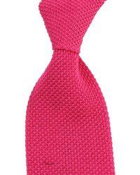 KJ Beckett Plain Cotton Tie - Pink