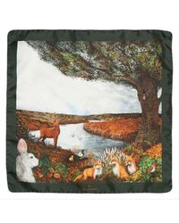 Simon Carter Woodland Pocket Square - Multicolor
