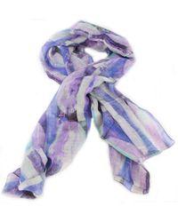 Bassin and Brown Vanilla Abstract Stripe Cotton Scarf - Multicolour