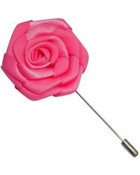 Bassin and Brown Rose Lapel Pin - Pink