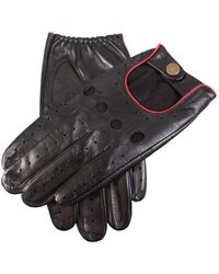 Dents Silverstone Touchscreen Driving Gloves - Black