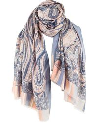 Michelsons Of London Large Paisley Scarf - Multicolour