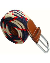 Bassin and Brown Jagged Stripe Elasticated Woven Buckle Belt - Multicolor