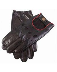 Dents Delta Leather Driving Gloves - Black