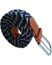 Bassin and Brown Three Stripe Elasticated Woven Belt - Multicolor