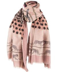 Michelsons Of London Patchwork Chain Scarf - Multicolour