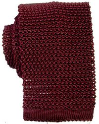 KJ Beckett Knitted Silk Tie - Red