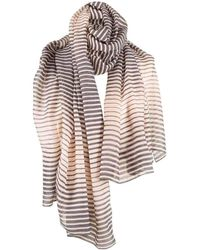 Michelsons Of London Graduated Stripe Scarf - Multicolour
