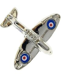 Bassin and Brown Spitfire Lapel Pin - Multicolour