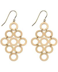 Elements Gold - Multi Circle Drop Earrings - Lyst