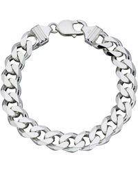 Beginnings Heavyweight Diamond Cut Bracelet - Metallic