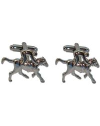 Bassin and Brown Horse Racing Cufflinks - Multicolour