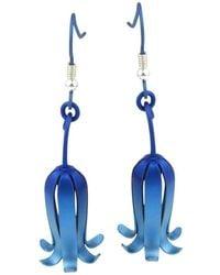 Ti2 Titanium Woodland Bluebell Drop Earrings