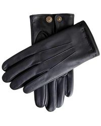 Dents The Suited Racer Lando Touchscreen Embossed Gloves - Black