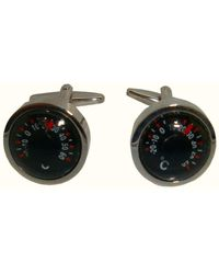 Bassin and Brown Thermometer Cufflinks - Multicolour