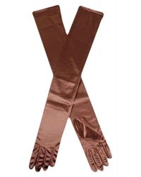 Dents - Long Satin Shoulder Length Evening Gloves - Lyst