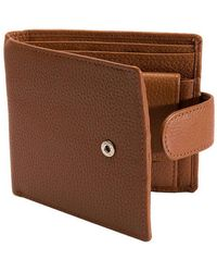 Dents Pebble Grain Rfid Stud Bifold Wallet - Brown