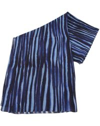 Bassin and Brown Herbarium Abstract Cotton Scarf - Blue