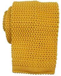 KJ Beckett Knitted Silk Tie - Multicolour
