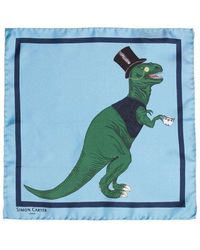 Simon Carter T-rex Toff Pocket Square - Multicolor