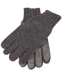 Dents Knitted Cashmere Gloves - Gray