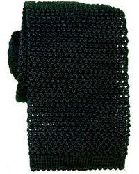 KJ Beckett Bottle Knitted Silk Tie - Black