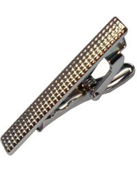 Bassin and Brown - Textured Tie Bar - Lyst