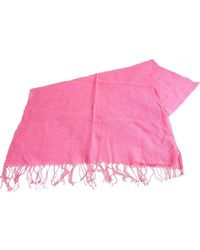 Bassin and Brown Greenwood Plain Textured Scarf - Pink