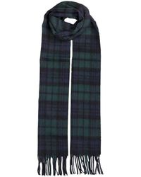 Dents Lambswool Scarf - Blue