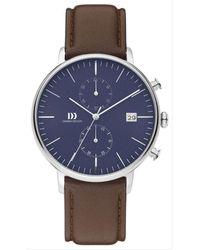 Danish Design Tidlos Koltur Chrono Watch - Blue