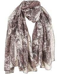 Michelsons Of London Abstract Floral Paisley Scarf - Multicolour