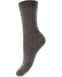 Pantherella Tabitha Cashmere Socks - Grey