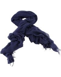 Bassin and Brown Aeolus Large Plain Scarf - Blue