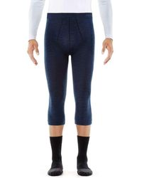 FALKE Wool 3/4 Tights - Blue