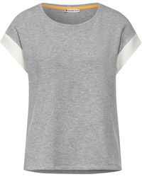 Street One - T-Shirt mit Kick Streifen - Lyst