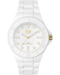 Ice-watch Armbanduhr ICE Generation M Weiß/Goldfarben Weiß