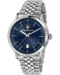 Maserati Herren-Armbanduhr Epoca Stahl/ - Blau