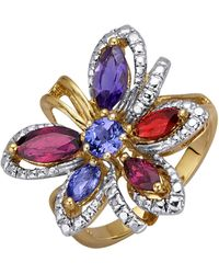 KLiNGEL Blumen-Ring - Blau
