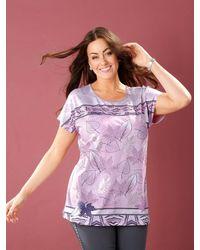 m. collection - Shirt Rosé::Grau - Lyst