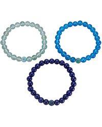 KLiNGEL Set Van 3 Armbanden - Blauw