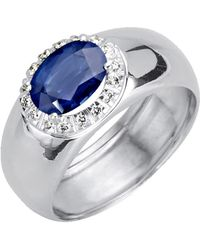 Diemer Farbstein Damesring - Blauw