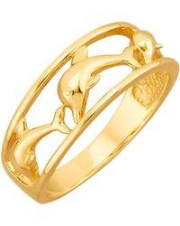 Diemer Gold Ring Dolfijn - Metallic