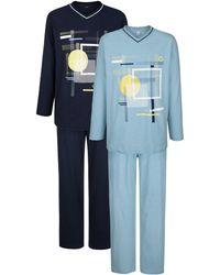 G Gregory Pyjama's Per 2 Stuks - Blauw