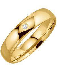 Harmony Trouwring Met Diamant - Geel